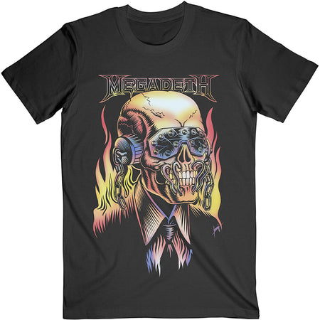 Megadeth - Flaming Vic  - Black t-shirt