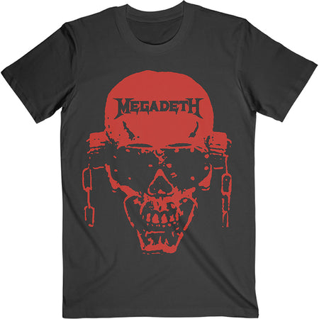Megadeth - Vic Hi-Contrast Red - Black t-shirt