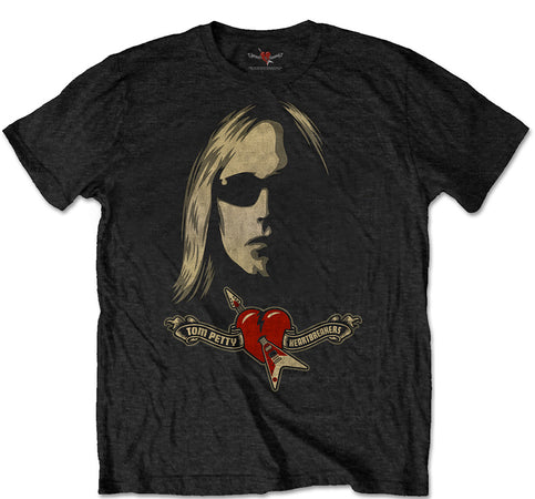 Tom Petty - Shades and Logo - Black T-shirt