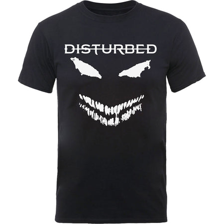 Disturbed - Scary Face Candle - Black t-shirt