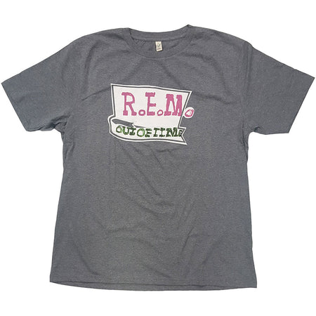 REM - Out Of Time - Heather Grey Organic Cotton t-shirt