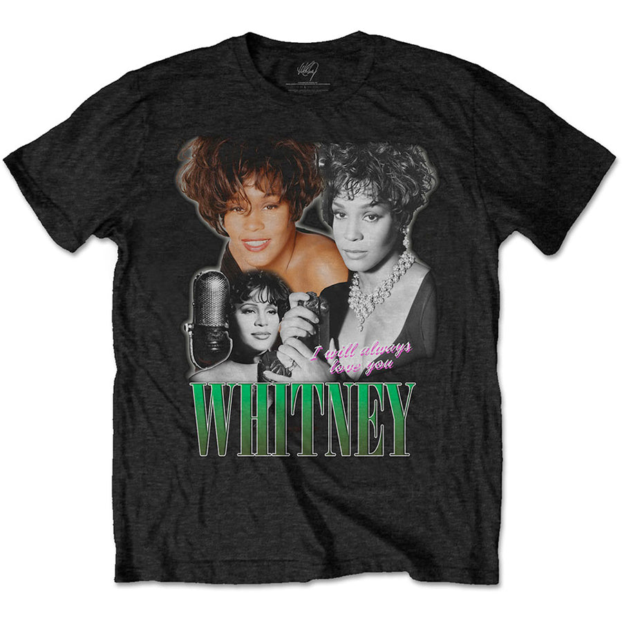 Whitney Houston - Alwauys Love You Homage - Black t-shirt