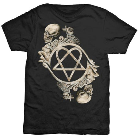HIM - Bone Sculpture - Black t-shirt