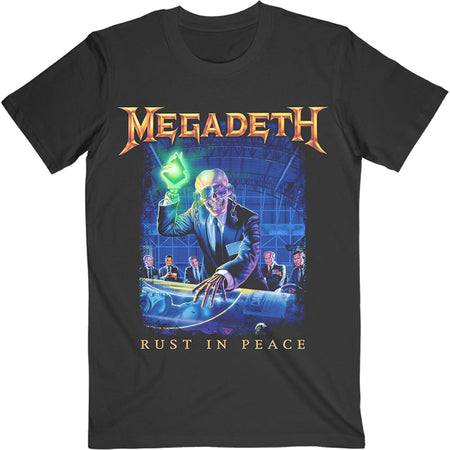 Megadeth - Rust In Peace-Tracklist Back Print  - Black t-shirt