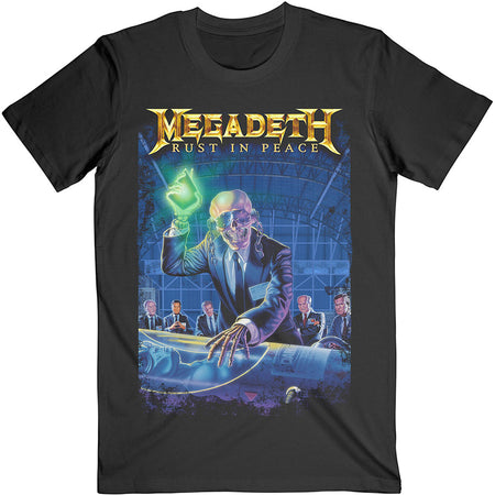 Megadeth - Rust In Peace-30th Anniversary Back Print  - Black t-shirt