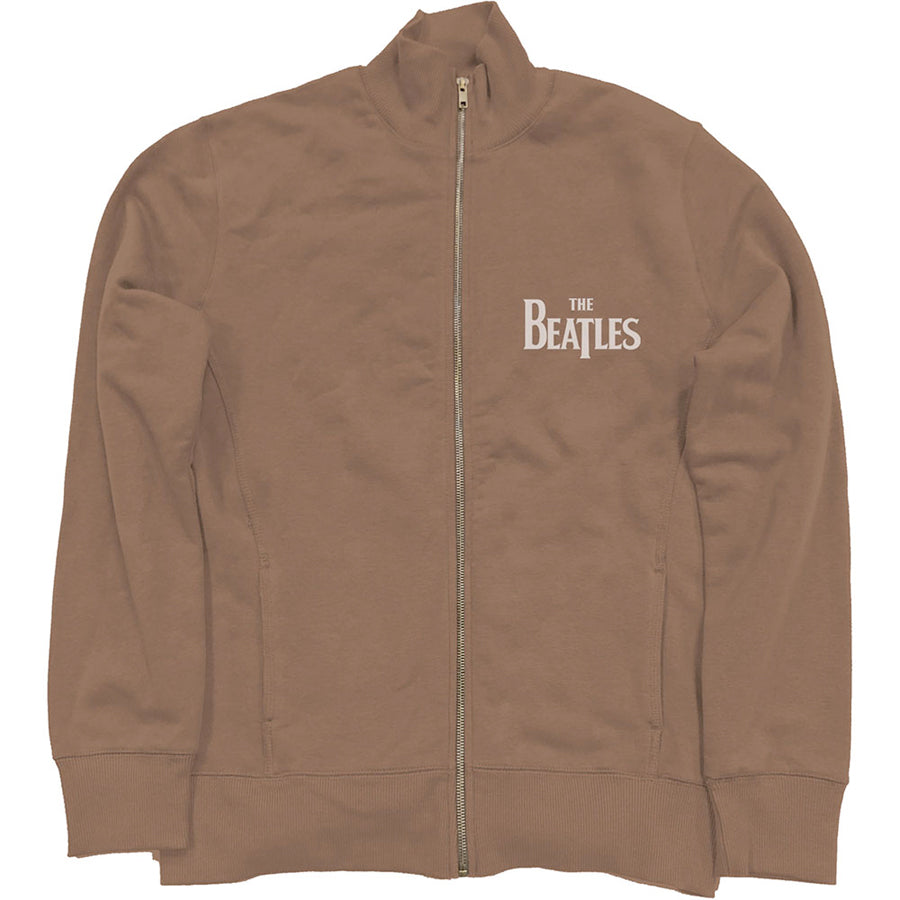 The Beatles - Drop T Logo - Brown Track Jacket