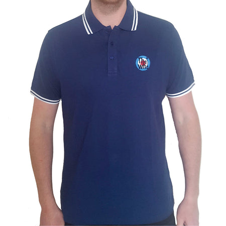 The Who - Embroidered Target Logo - Navy Blue Polo Shirt