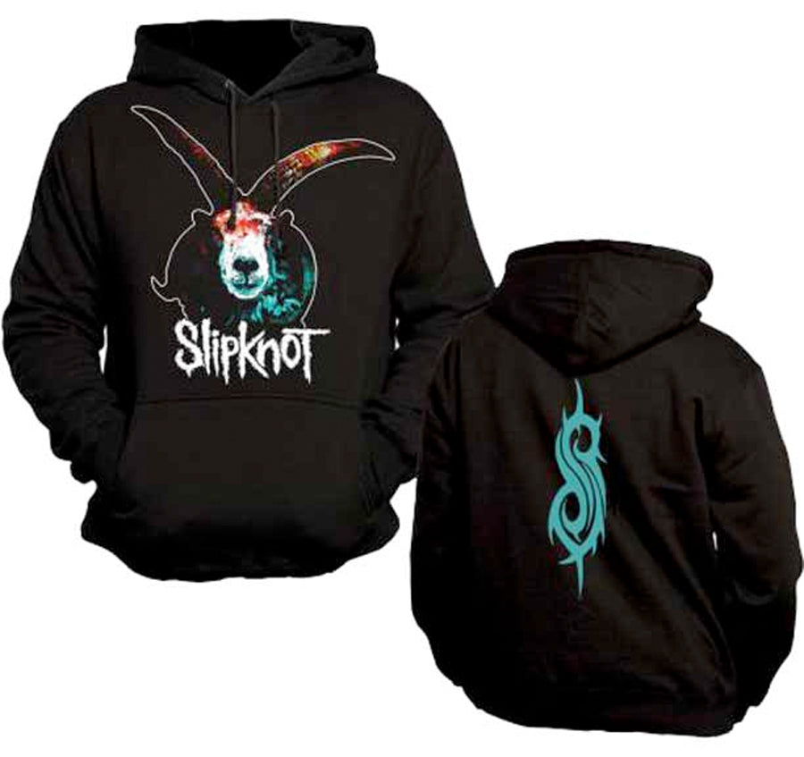 Slipknot-Graphic Goat-Black Hooded Sweatshirt