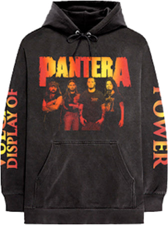 Pantera - Display Of Power - Black  Hooded Sweatshirt