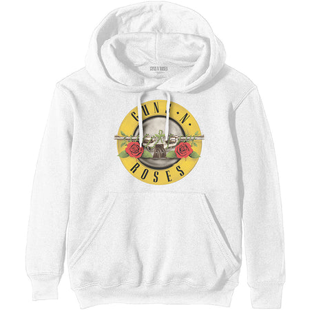 Guns N Roses - Classic Seal - White Hooded Sweatshirt