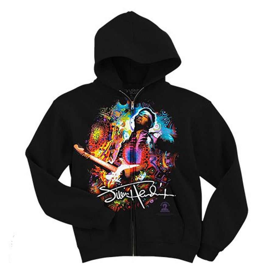 Jimi Hendrix - Angel - Black Hooded Sweatshirt
