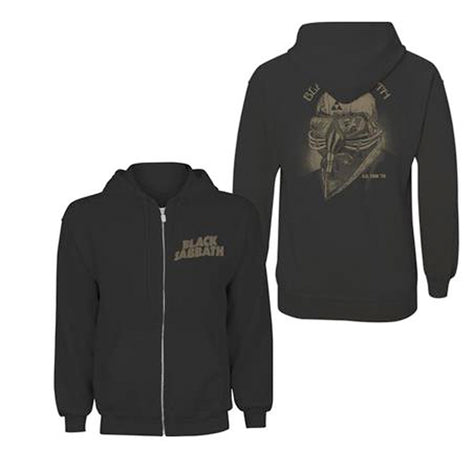 Black Sabbath - US Tour 1978 - Zipped Black Hooded Sweatshirt