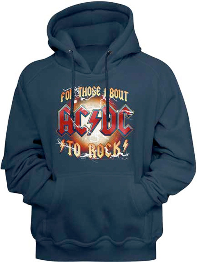 AC/DC - For Those About To Rock - Black Hooded Sweatshirt