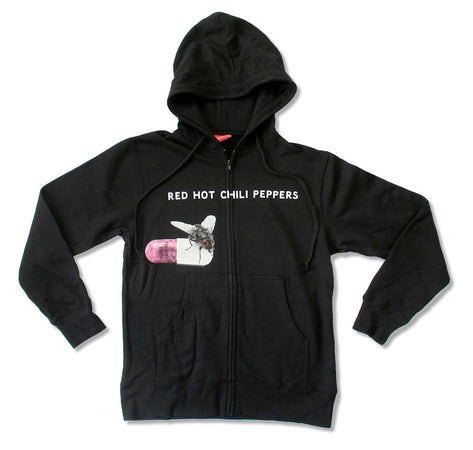 Red Hot Chili Peppers - Pill and Fly - Black Hooded Sweatshirt