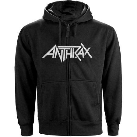 Anthrax - Not Man NYC - Zip Black Hooded Sweatshirt