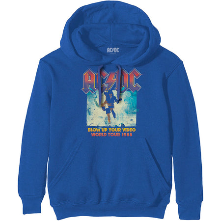 AC/DC - Blow Up Your Video - Blue Hooded Sweatshirt