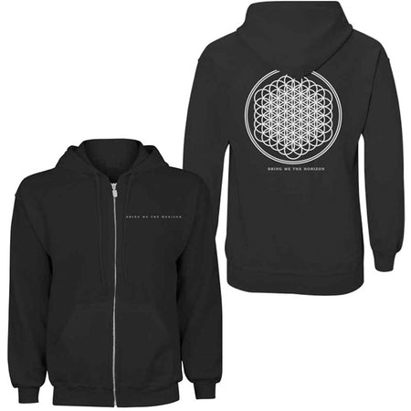 Bring Me The Horizon - Flower Of Life - Zip Black Hooded Sweatshirt