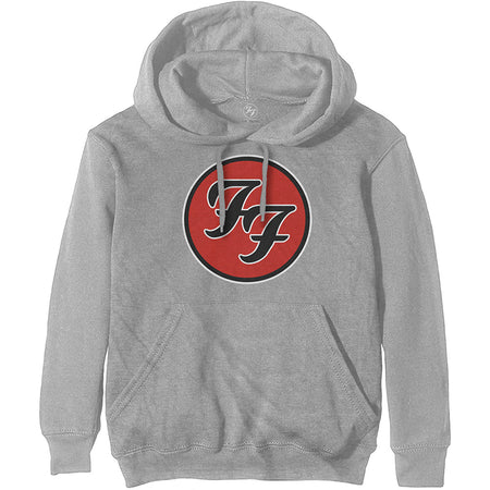 Foo Fighters - FF Logo -Pullover Grey Hooded Sweatshirt