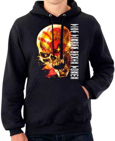 Five Finger Death Punch - Justice For None- Black Hooded Sweatshirt