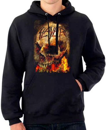 Slayer - Fire Skull - Black Hooded Sweatshirt