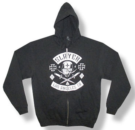 Slayer - Vintage 1981 - Zip Up Black Hooded Sweatshirt