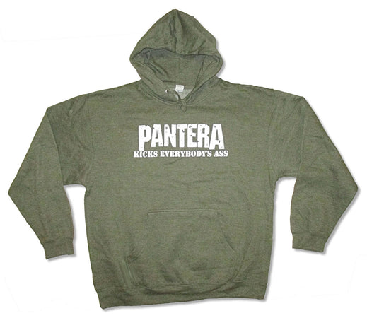 Pantera - Kicks Ass - Army Green  Hooded Sweatshirt