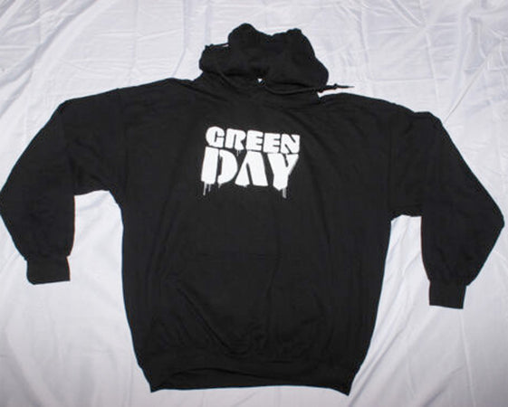 Green Day - Drip Logo - Black Hooded Sweatshirt