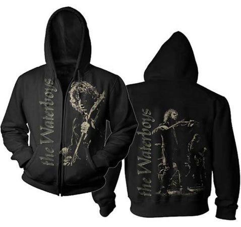 The Waterboys -Concert-Black Zip Hoodie