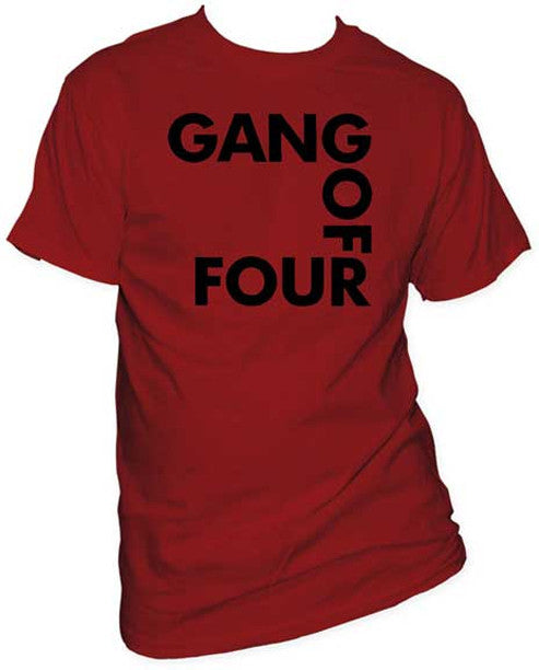 Gang of Four logo on cardinal t-shirt