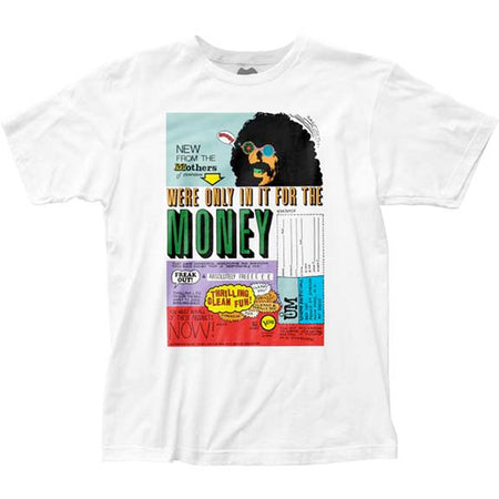 Frank Zappa - We're Only  In It For The Money - White t-shirt