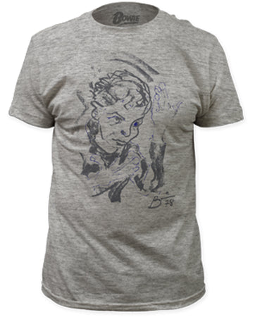 David Bowie - Self Portrait - Heather Grey t-shirt