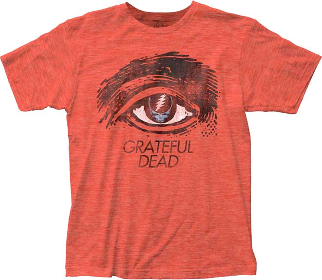 Grateful Dead - Grateful Eye - Heather Red t-shirt