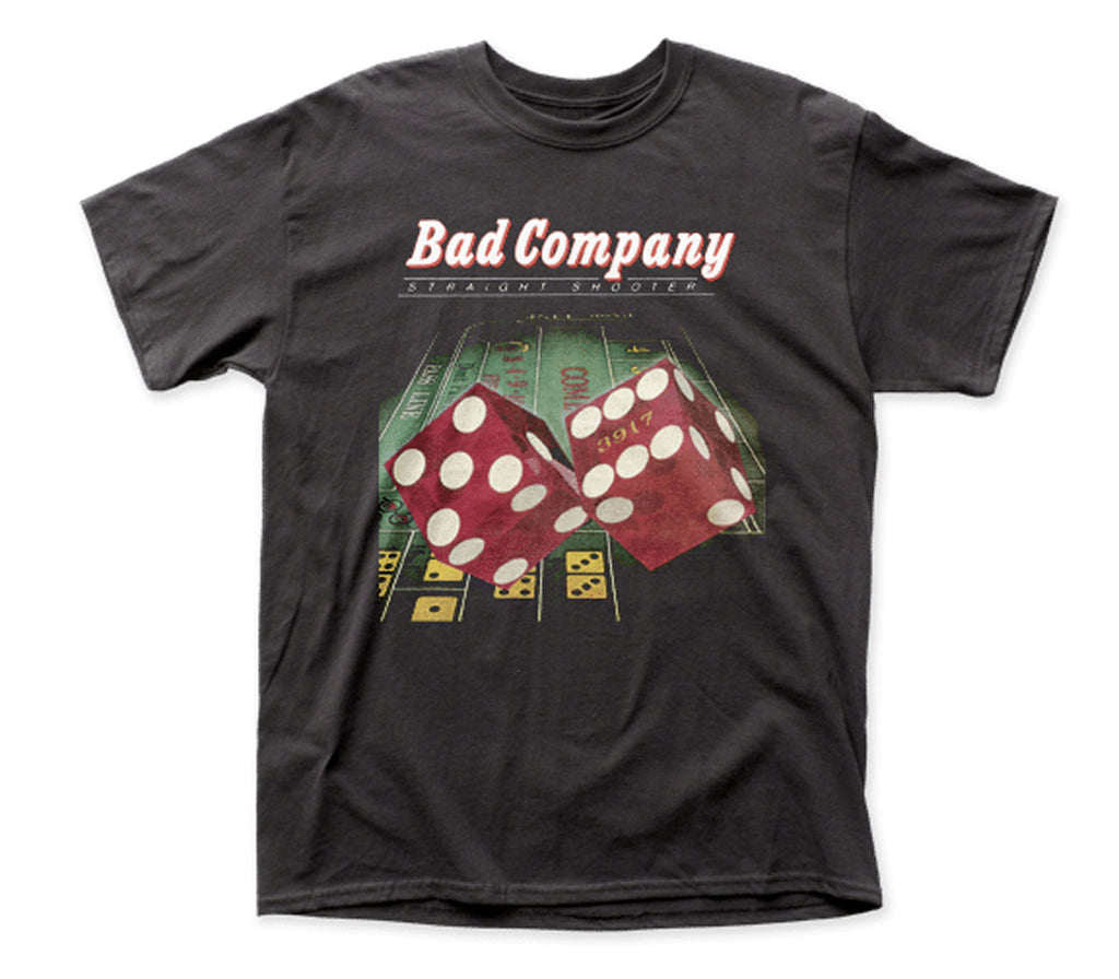 Bad Company - Straight Shooter - Black T-shirt