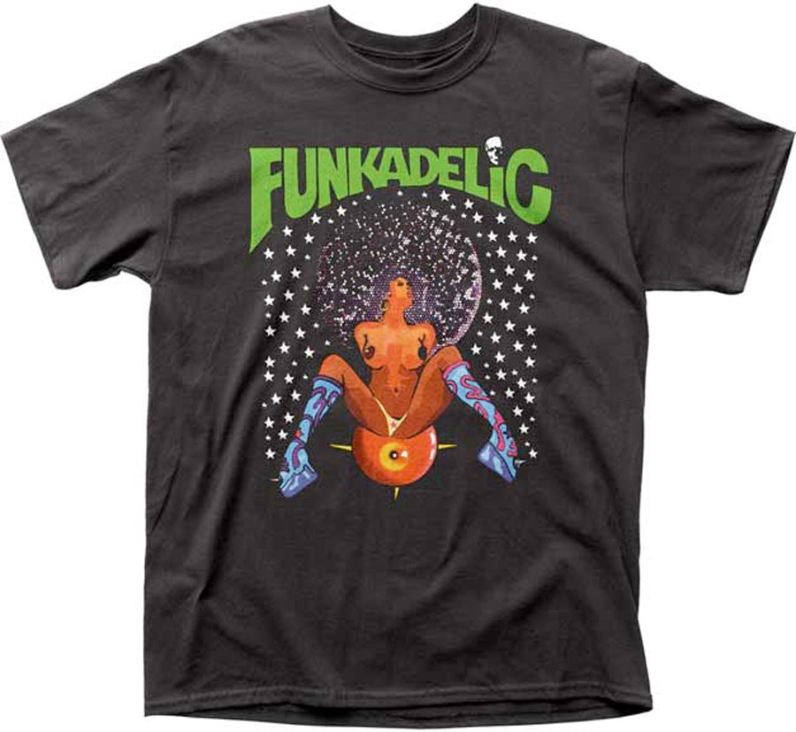 Funkadelic-Afro Girl Design-Black T-shirt
