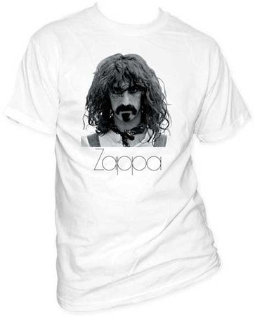 Frank Zappa Face on white t-shirt