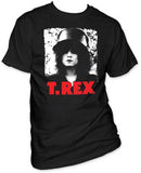 T.Rex Marc Bolan Pixilated Slider Black t-shirt