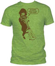 Frank Zappa - Kill Your Mama - heather green men's fitted t-shirt