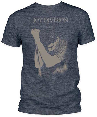 Joy Division Ian Curtis on Heather Navy Mens fitted t-shirt