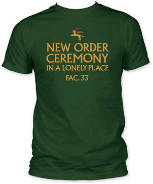 New Order  In a Lonely Place Forest Green Men's fitted t-shirt
