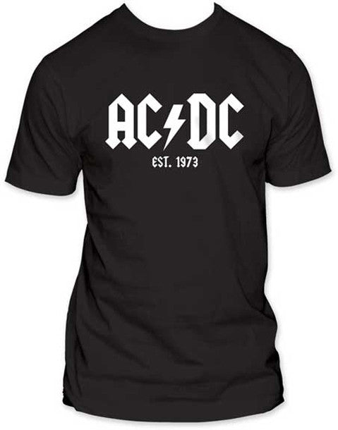 AC/DC Established 73 on men's fitted lightweight t-shirt