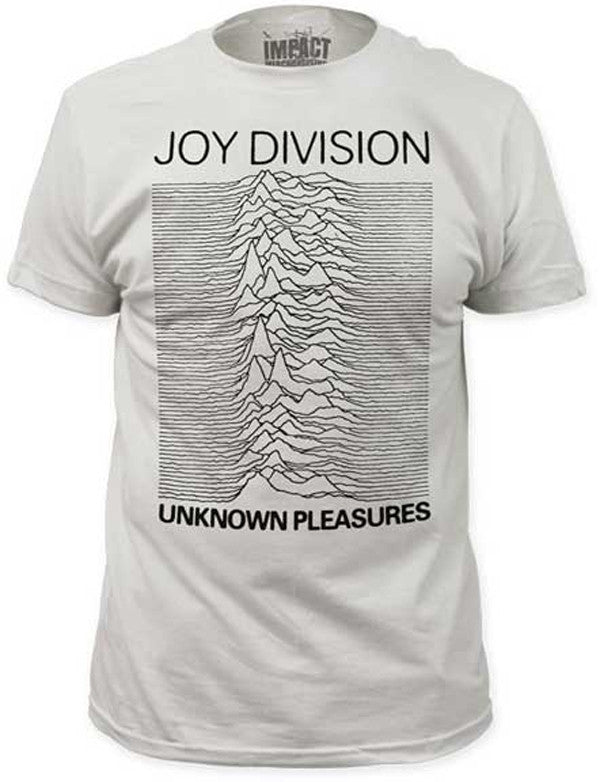 Joy Division Unknown Pleasures Fitted White T-shirt