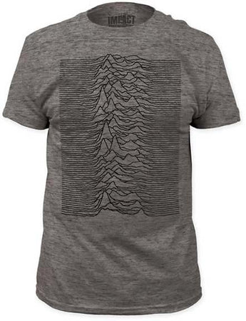 Joy Division-Unknown Pleasures Fitted Tri-Blend Grey T-shirt