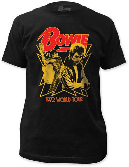 David Bowie 1972 World Tour Fitted t-shirt
