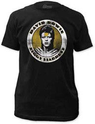 David Bowie Ziggy Stardust Circle Fitted t-shirt