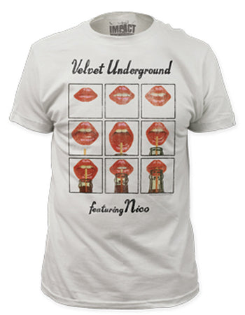 Velvet Underground Featuring Nico Men's Fitted Vintage White  t-shirt
