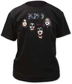 Kiss Self-Titled Album Black t-shirt