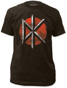 Dead Kennedys Distressed Classic Logo Black Fitted t-shirt