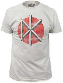 Dead Kennedys Distressed Classic Logo Vintage White Fitted t-shirt