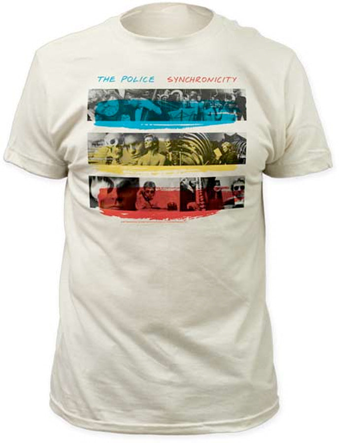 The Police Synchronicity Vintage White Fitted t-shirt