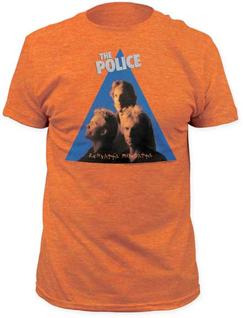 The Police Zenyatta Mandatta Heather Orange Fitted t-shirt